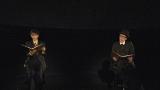 『天国DJ 亡き、あなた へ…』で東日本大震災の被災者の夢を朗読する(左から)満島ひかり、リリー・フランキー(C)NHK
