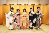 (左から)横山由依、坂口渚沙、倉野尾成美、福岡聖菜、浅井七海=AKB48 2021年 新成人メンバー成人式 (C)AKB48