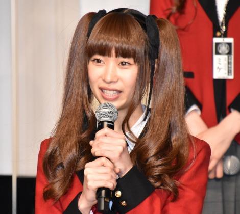 Amazon Prime Videoドラマ『賭ケグルイ双』ドラマ完成報告に出席した森川葵 (C)ORICON NewS inc.