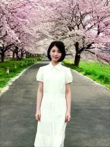 浜辺美波フォトエッセイ『夢追い日記』より「仙台の満開の桜に感動」