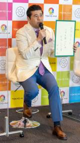 TOKYO MX『2021年4月改編』記者発表会に出席した垣花正