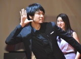 お茶目な青木崇高=映画『るろうに剣心』GLOBAL FAN SESSION(C)ORICON NewS inc.