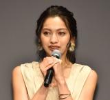 大粒の涙を流したゆきぽよ=『ライザップ』新CM発表会 (C)ORICON NewS inc.