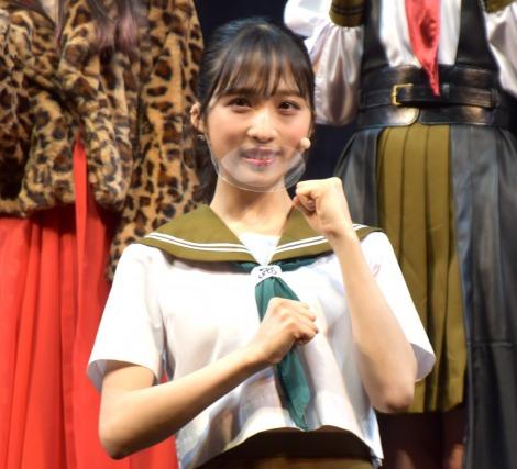 舞台続編に意気込みを語ったAKB48・小栗有以=AKB48チーム8単独舞台第4弾『マジムリ学園 蕾-RAI-』取材会 (C)ORICON NewS inc.