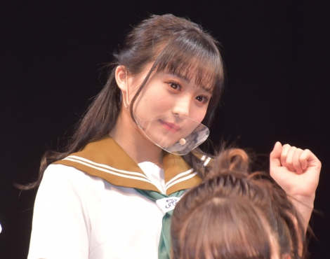 AKB48チーム8単独舞台第4弾『マジムリ学園 蕾-RAI-』取材会に出席した坂口渚沙 (C)ORICON NewS inc.
