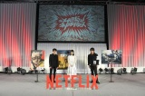 イベントに登場した(左から)津田健次郎、高野麻里佳、森川智之