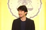 フジテレビ系月9ドラマ『イチケイのカラス』リモート記者発表会に出席した竹野内豊 (C)フジテレビ