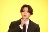 フジテレビ系月9ドラマ『イチケイのカラス』リモート記者発表会に出席した新田真剣佑 (C)フジテレビ