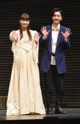 舞台『Romeo and Juliet −ロミオとジュリエット−』取材会に出席した(左から)茅島みずき、道枝駿佑 (C)ORICON NewS inc.