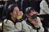 三太郎らのサプライズ企画に驚きと歓喜 青翔開智中学校の卒業生