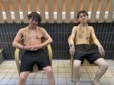 『サウナ有岡』に出演する(左から)有岡大貴、宮近海斗(C)テレビ東京