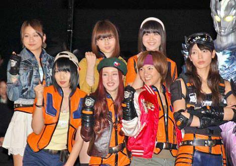 """映画『ウルトラマンサーガ』の完成披露試写会に出席した、AKB48""""チームU"""" (C)ORICON DD inc."""