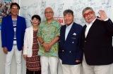 (左から)古谷敏、桜井浩子、黒部進、毒蝮三太夫、二瓶正也 (C)ORICON NewS inc.