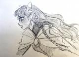 『竜とそばかすの姫』より主人公・歌姫ベルのキャラクターデザインボード (C)2021 スタジオ地図
