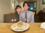 夫の最終出勤日にお祝いする桃(写真は桃のオフィシャルブログより)