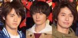 『仮面ライダービルド』に出演した(左から)赤楚衛二、犬飼貴丈、武田航平 (C)ORICON NewS inc.