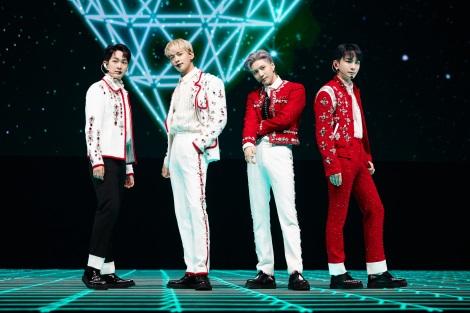 約3年ぶりとなる単独公演にして初のオンラインコンサートを開催したSHINee(左から)オンユ、ミンホ、テミン、キー