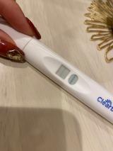 妊娠検査薬で陽性反応が出たことを報告したでっぱりん(写真はオフィシャルブログより/掲載許可済み)
