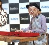 """『電子キーボード""""Casiotone""""新製品発表会』に登場したハラミちゃん (C)ORICON NewS inc."""