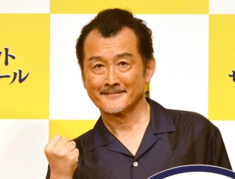 新商品『パーフェクトサントリービール』新CM発表会に出席した吉田鋼太郎 (C)ORICON NewS inc.