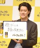 新商品『パーフェクトサントリービール』新CM発表会に出席した霜降り明星・粗品 (C)ORICON NewS inc.