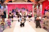 10日放送『HEY!HEY!NEO! MUSIC CHAMP』でダウンタウンと初共演したNiziU(C)フジテレビ