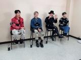 『ミュージックステーション』オフショット(左から)オンユ、テミン、ミンホ、キー