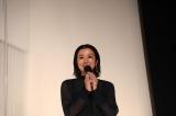 """鈴木京香=映画『椿の庭』初日舞台あいさつの模様 (C)2020 """"A Garden of Camellias"""" Film Partners"""