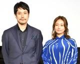 映画『BLUE/ブルー』公開記念舞台あいさつに登壇した(左から)松山ケンイチ、木村文乃 (C)ORICON NewS inc.