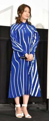 ブルーのワンピースで登壇した木村文乃=映画『BLUE/ブルー』公開記念舞台あいさつ (C)ORICON NewS inc.