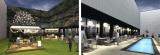 東急プラザ銀座の『屋上KIRIKO TERRACE』がリニューアルオープン(写真右は6月オープン予定のウォータ ー サイド)