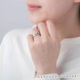 けろけろけろっぴがデザインされた婚約指輪、結婚指輪『けろけろけろっぴ リング』
