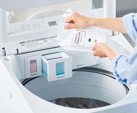縦型だけど大容量で洗剤自動投入!新生活様式にぴったりの洗濯機