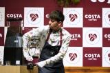 『コスタ ブラック』『コスタ カフェラテ』発売記念イベントに出席したハリー杉山