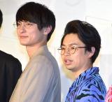 映画『くれなずめ』完成披露舞台あいさつに参加した(左から)高良健吾、浜野謙太 (C)ORICON NewS inc.