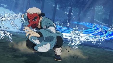ゲーム『鬼滅の刃 ヒノカミ血風譚』バーサスモードで戦う鱗滝左近次