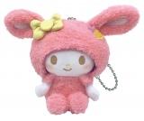 マイメロディ(ぬいぐるみチャーム賞)=Happyくじ『Sanrio Animal Collection』※画像はイメージですので、実際の商品とは異なる場合があります。