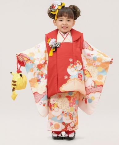 サムネイル ピカチュウ(3歳女児100cm被布)の着物