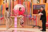 21日放送のバラエティー『ホンマでっか!?TV』2時間スペシャルに出演する(左から)明石家さんま、加藤綾子、ケンドーコバヤシ(C)フジテレビ
