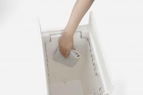 ゴミ袋の収納ケースを内側に配置