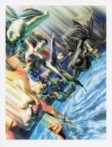 『DC展 スーパーヒーローの誕生』で展示予定の「JLA:プロテクターズ・オブ・ザ・ユニバース」 DC SUPER HEROES and all related characters and elements (c) & TM  DC Comics. WB SHIELD: (c)& TM WBEI. (s21)