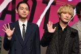 映画『キャラクター』の完成披露記者会見に出席した(左から)菅田将暉、Fukase (C)ORICON NewS inc.
