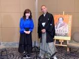 5月1日放送の『あさパラS』GW2時間SPに出演するハイヒールモモコと市川海老蔵(C)読売テレビ