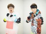 5月5日放送の『逃走中〜こどもの日4時間SP〜』に出演する(左から)HIKAKIN、SEIKIN(C)フジテレビ