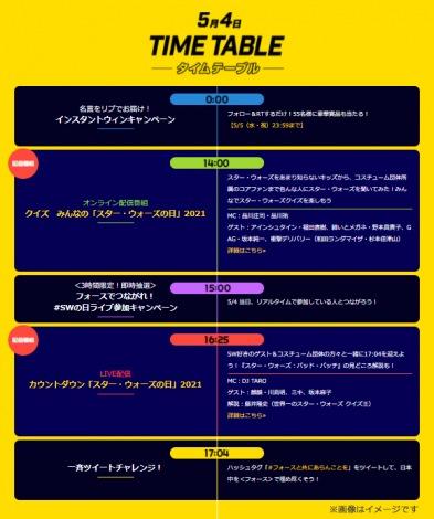 タイムテーブル=日本オリジナル2021年「スター・ウォーズの日」(C)& TM Lucasfilm Ltd.