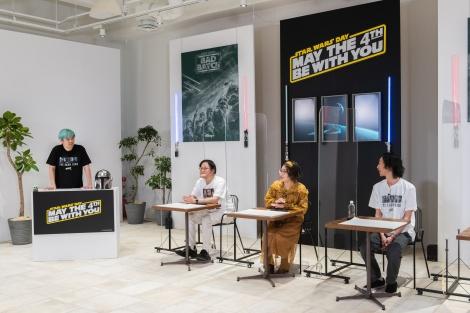 オンライン配信番組のスタジオイメージ=日本オリジナル2021年「スター・ウォーズの日」(C)& TM Lucasfilm Ltd.