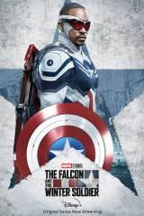 ディズニープラスオリジナルシリーズ『ファルコン&ウィンター・ソルジャー』(ディズニープラスで配信中)キャプテン・アメリカ/キャラクターポスター(C)2021 Marvel