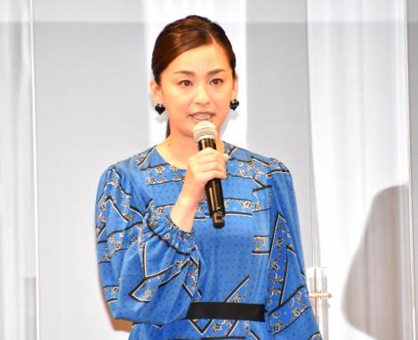 映画『明日の食卓』(28日公開)の完成報告会見に出席した尾野真千子 (C)ORICON NewS inc.