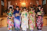 STU48新成人メンバー(左から)鈴木彩夏、兵頭葵、薮下楓、渡辺菜月、宗雪里香(C)STU