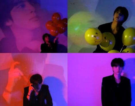 BTSのニューシングル「Butter」コンセプトクリップ(上段)JIN(下段)SUGA